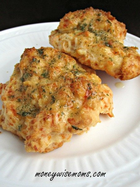 Cheddar Cheese Biscuits - amazing flavor but you only need one! Perfect side to any chili, soup or stew