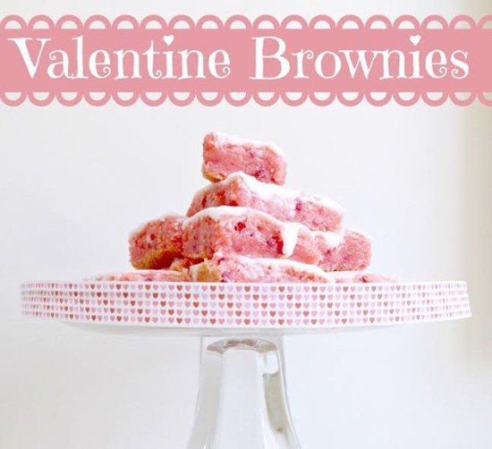 Valentine Strawberry Brownies from We Heart Brownies | Valentine Sweets