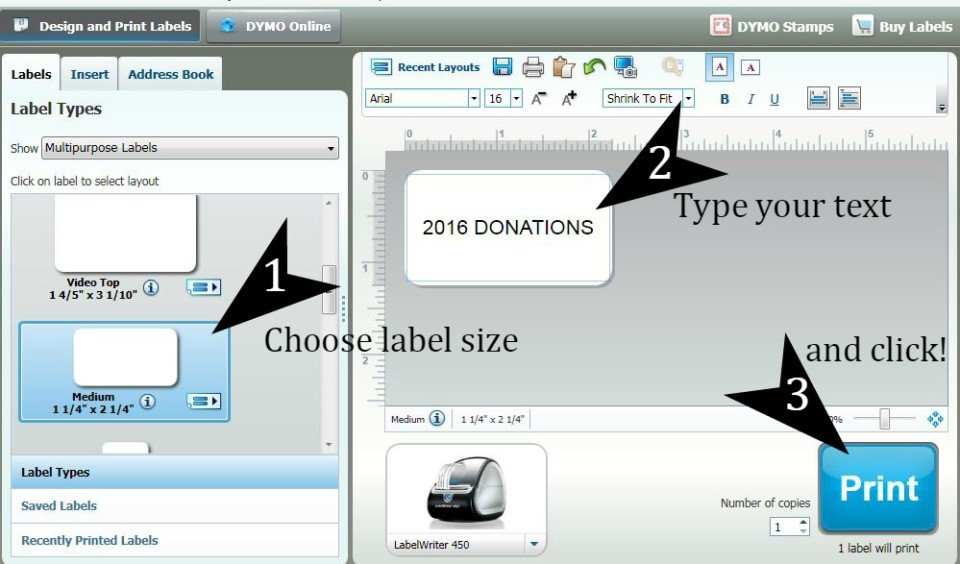 Using the DYMO LabelWriter to organize your home business for tax time #DYMOandDone #ad