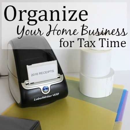 Organize Your Home Business for Tax Time