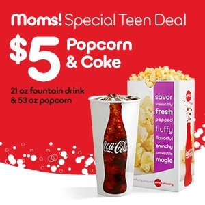 Scheduling time with your tween or teen | AMC Theatres & CocaCola coupon and giveaway