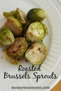 Roasted Brussels Sprouts - easy, healthy way to prepare Brussels Sprouts