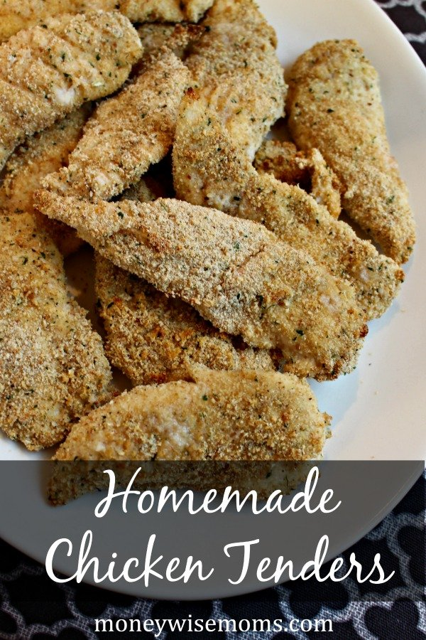 Homemade Chicken Tenders | easy recipe for healthy chicken tenders that taste better than fast food
