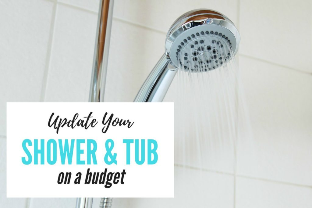 How to update your old shower & tub on a budget | frugal home improvement