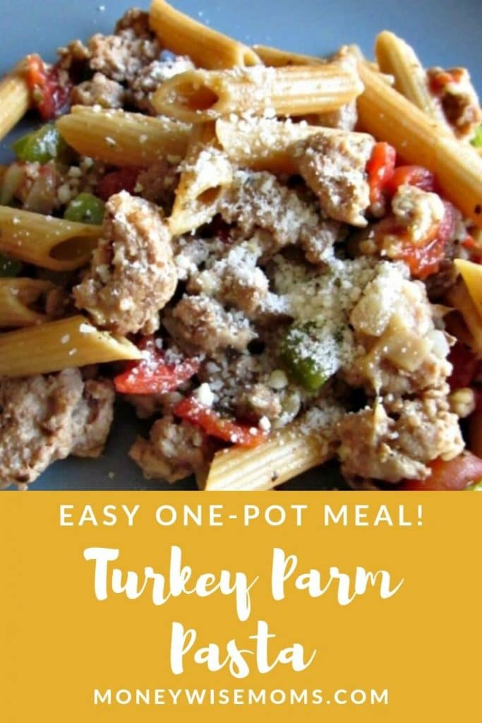 Easy family meal - ground turkey pasta