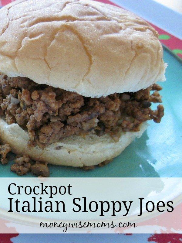 Crockpot Italian Sloppy Joes - Easy family dinner