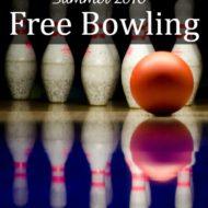 Free Bowling: Summer 2016