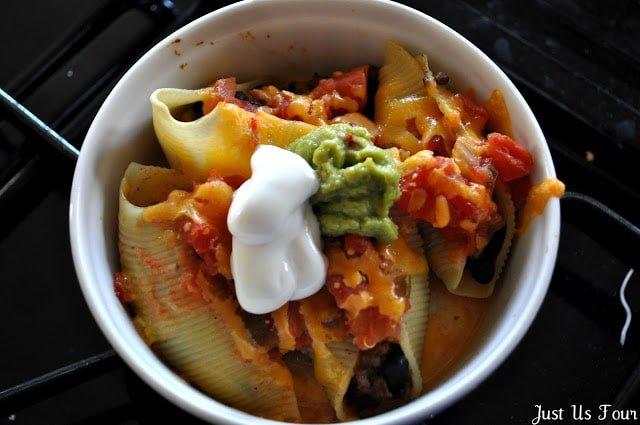 Taco Stuffed Shells from My Suburban Kitchen | Taco Tuesday recipes