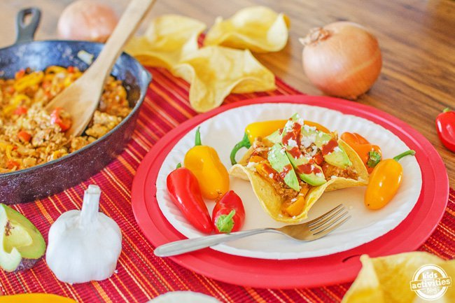 Breakfast Taco Bowls from Kids Activities Blog | Taco Tuesday recipes