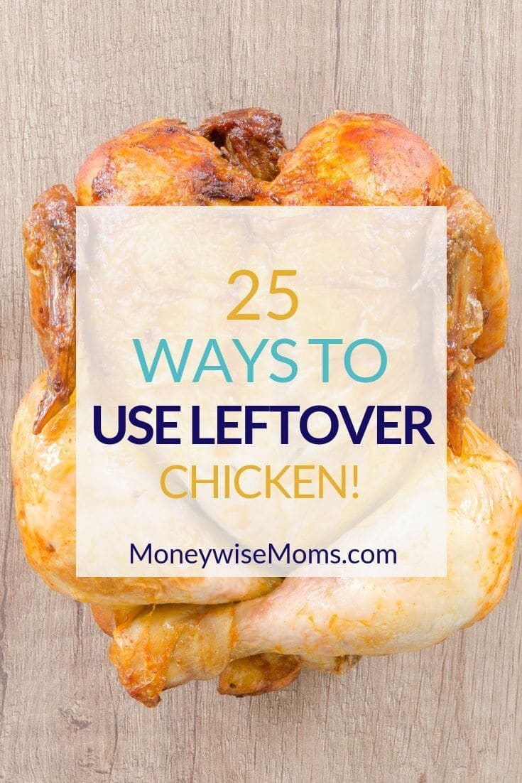Try some of these 25 ways to use up leftover chicken, and you'll be eating well every night of the week! Whatever you do to cook your chicken--grill, slow cooker, pressure cooker, baked in the oven, or just leftover from other meals--this big list of sandwiches, salads, pastas and casseroles will jazz up your menu plan.