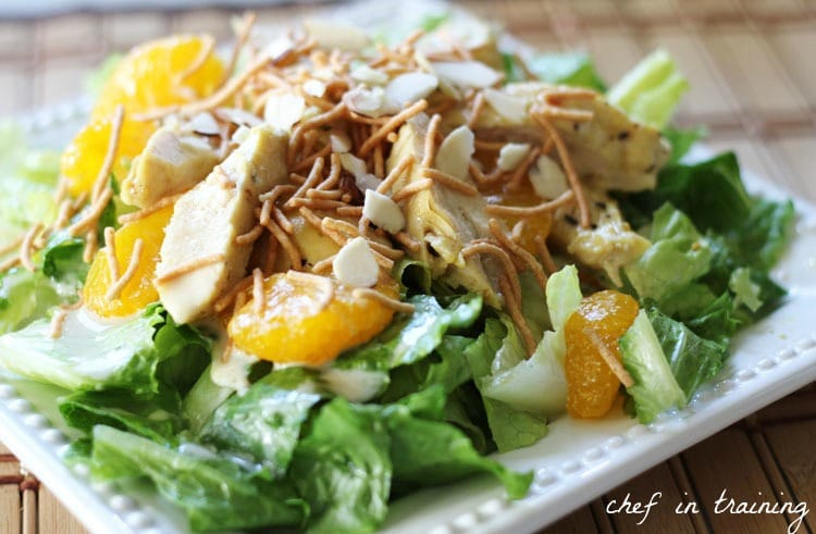 Oriental Chicken Salad from Chef in Training | Swim Meet Dinners {Packable Meals}