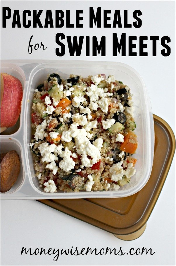 Packable Meals for Swim Meets | healthy family meals that you can pack in a lunchbox or cooler for swim meet dinners