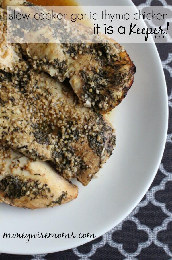 Slow Cooker Garlic Thyme Chicken