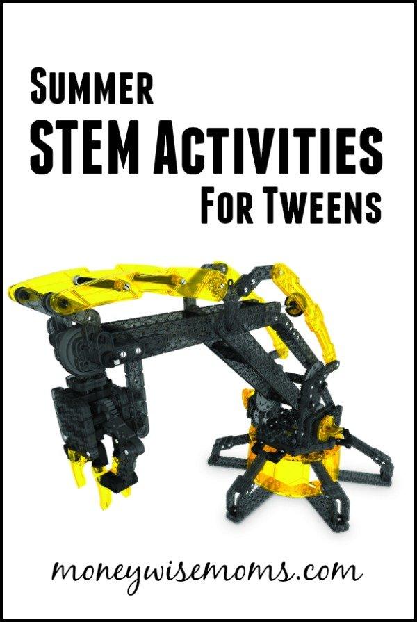 Summer STEM Activities for Tweens