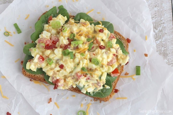 BLT Egg Salad from Two Healthy Kitchens   Swim Meet Dinners {Packable Meals}