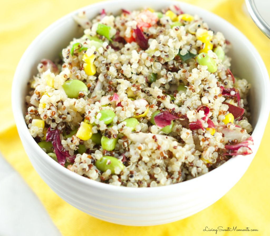 Quinoa Edamame Salad from Living Sweet Moments | Swim Meet Dinners {Packable Meals}