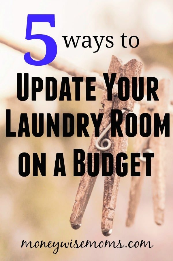 Update Your Laundry Room on a Budget - frugal home improvement DIY