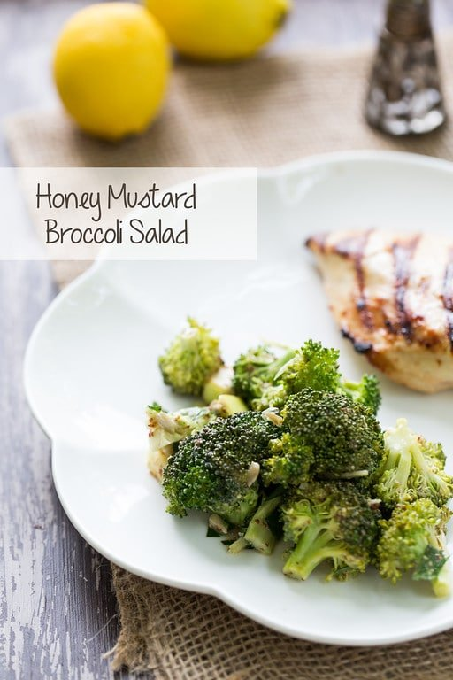Honey Mustard Broccoli Salad from Sidewalk Shoes | 10 Picnic and Potluck Side Dishes