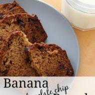 Banana Chocolate Chip Bread {Tasty Tuesdays}