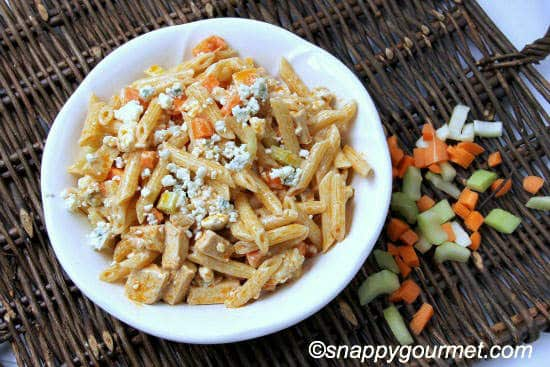 Buffalo Chicken Pasta Salad from Snappy Gourmet | 10 Picnic and Potluck Side Dishes