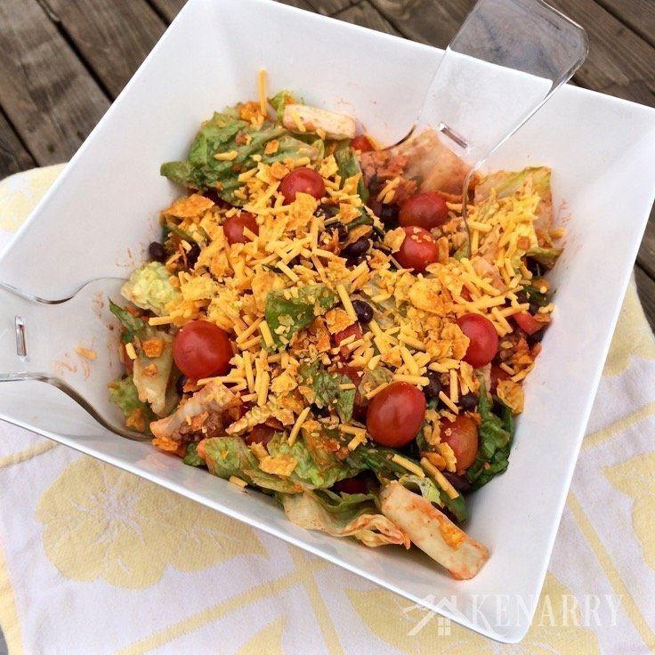 Classic Taco Salad Recipe from Kenarry | 10 Picnic and Potluck Side Dishes