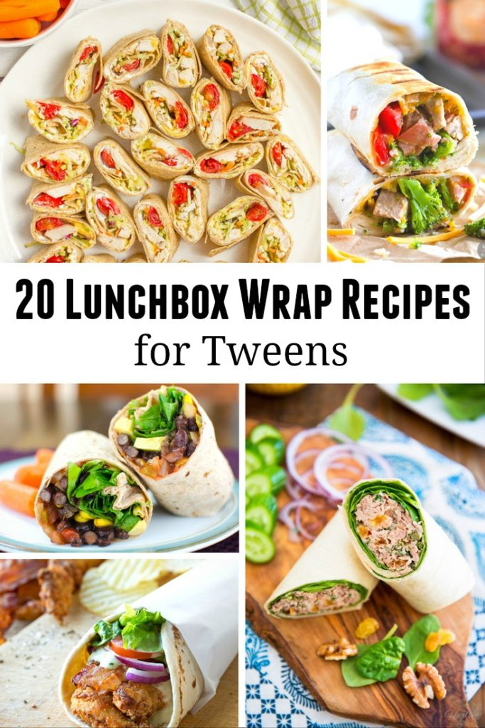 Lunchbox Wrap Recipes for Tweens - easy ways for kids to make their own school lunch