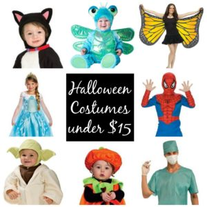 25 Halloween Costumes under $15 - frugal options for Halloween 2016