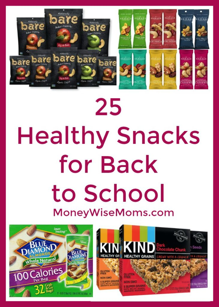 25 Healthy Snacks For Back To School Moneywise Moms