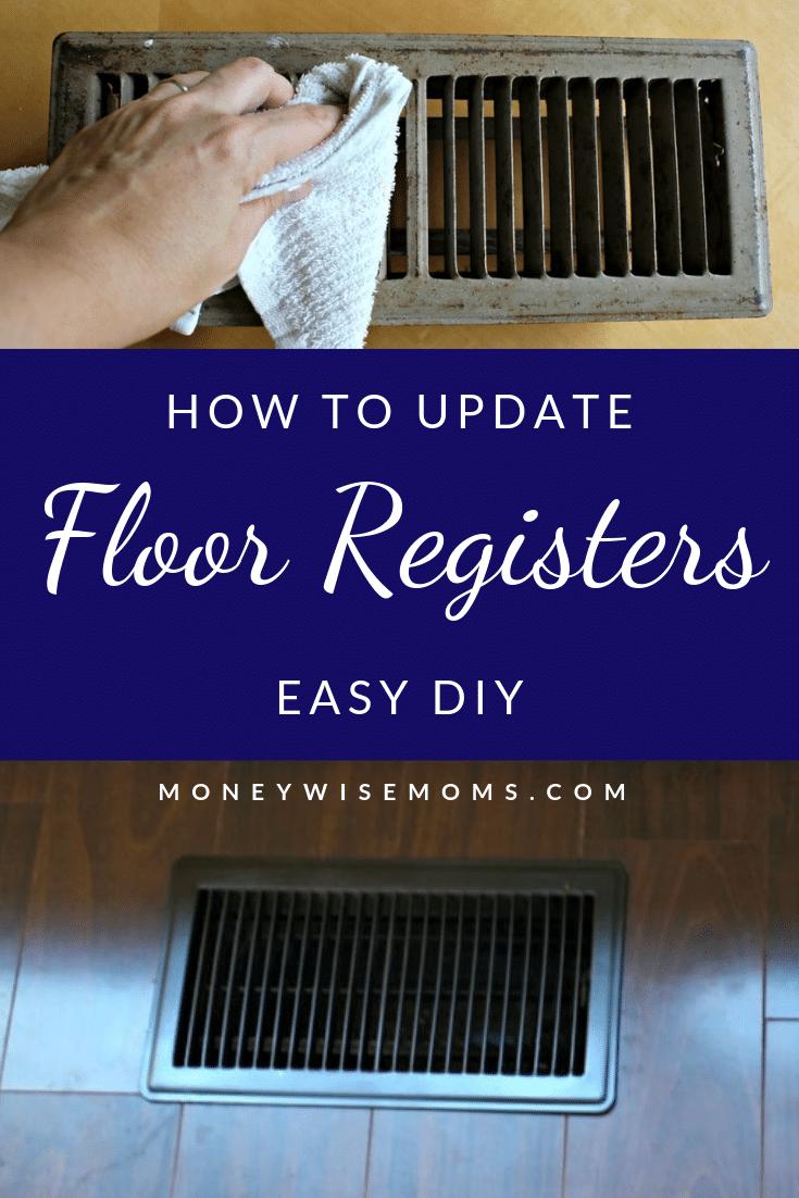 How to update floor registers -easy DIY
