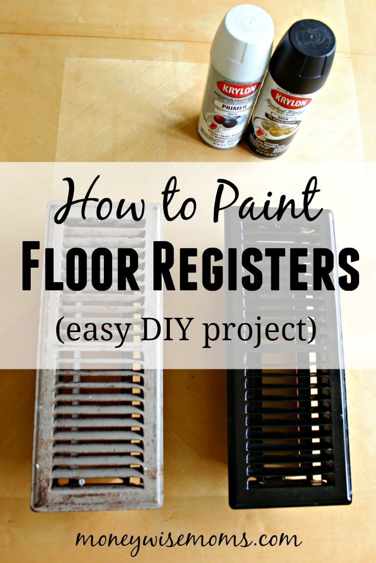 How to paint floor registers