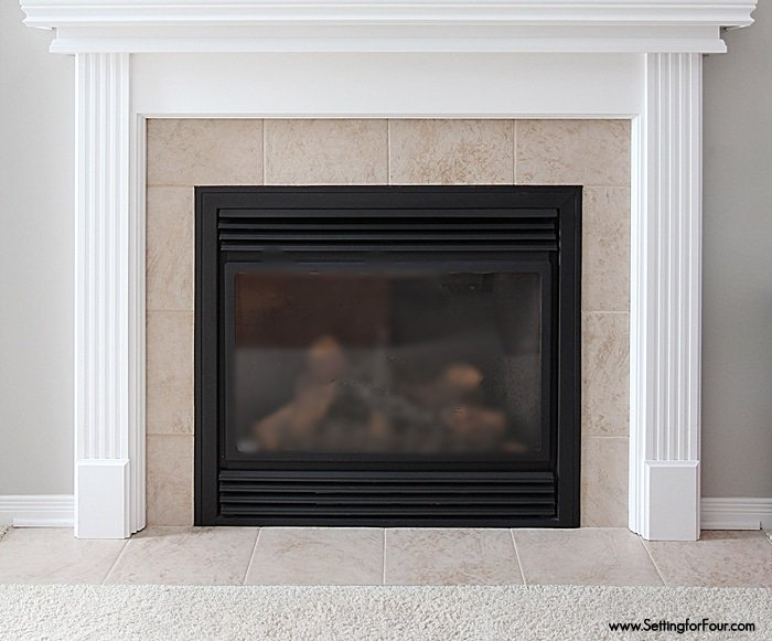 Easy Fireplace Makeover at Setting for Four - how to update a fireplace on a budget