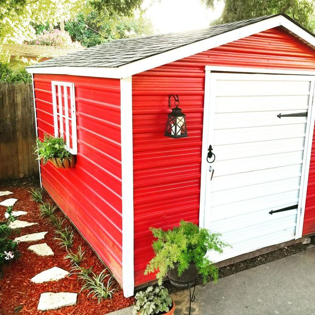 Painting an Old Shed from Hometalk - how to update an old shed