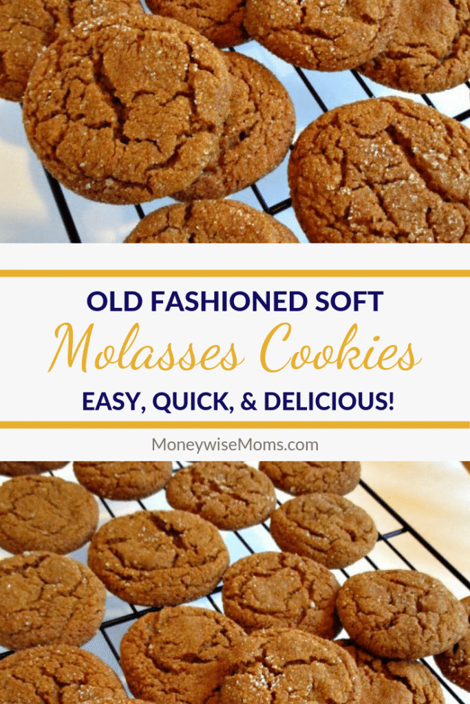 You'll love these chewy, spicy soft molasses cookies. They're one of our favorite recipes to bake in fall and winter! Easy to make molasses cookies are great for your holiday platters as well as year round snacking!