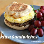 Hearty Breakfast Sandwiches {Tasty Tuesdays}
