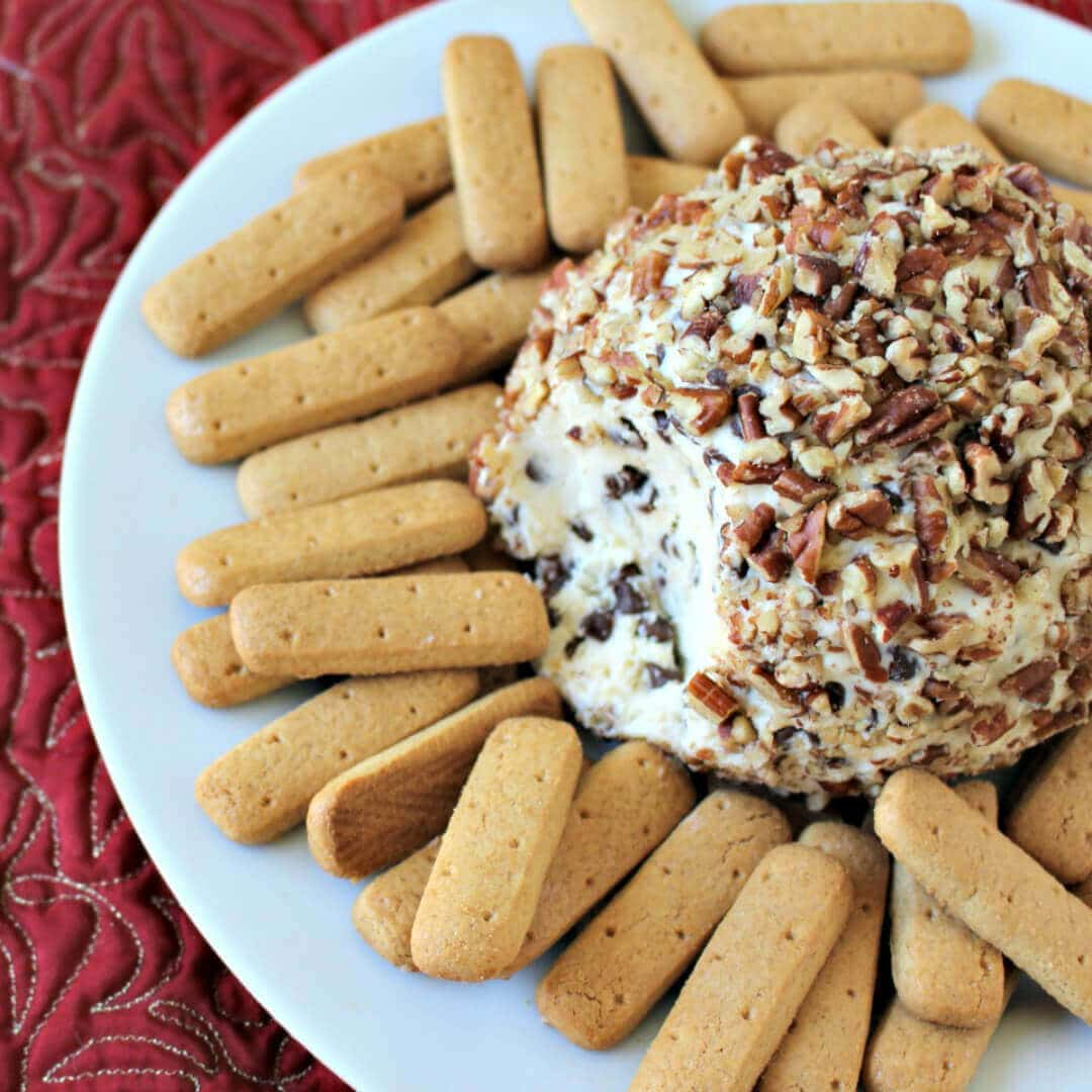 Chocolate Chip Cheese Ball - easy appetizer