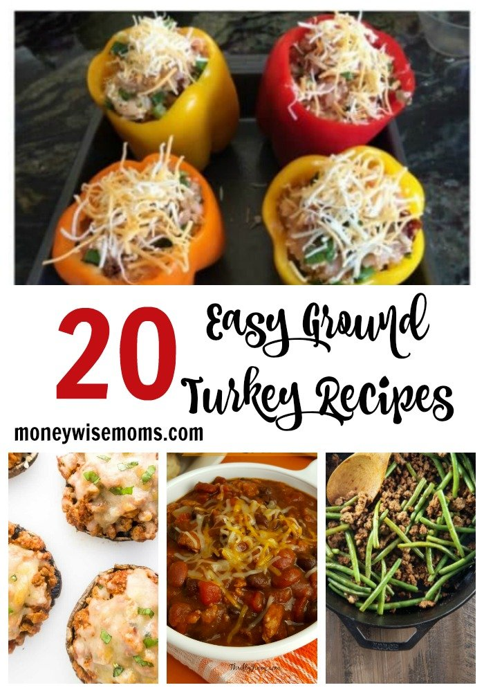20 easy ground turkey recipes that are perfect for family dinners! Choose from burgers, casseroles, meatloaves, chili, pasta dishes, and more.