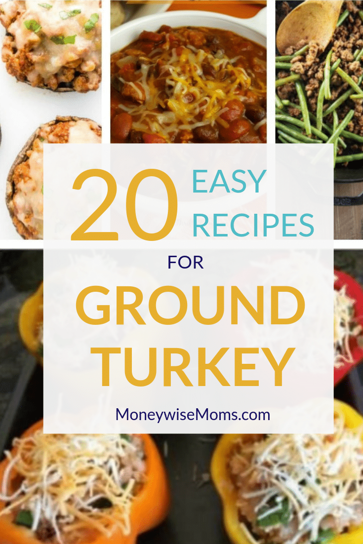 20 Easy Recipes using ground turkey