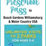 2017 Busch Gardens Preschool Pass