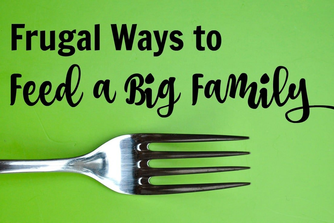 Frugal Ways to Feed a Big Family - meal planning tips to feed your crowd