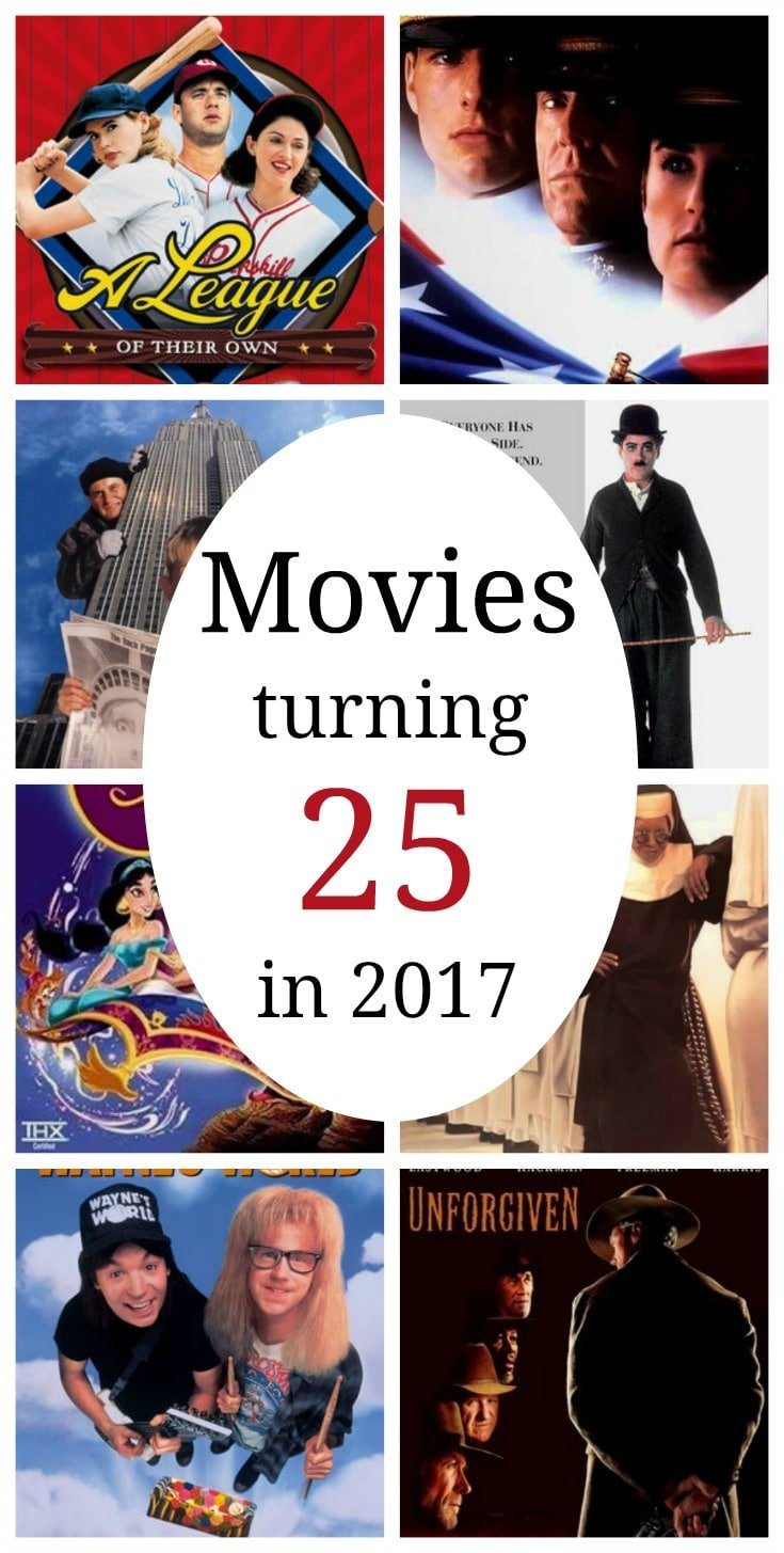 Movies turning 25 in 2017