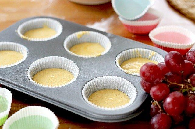 Allergy Cupcake batter in tin