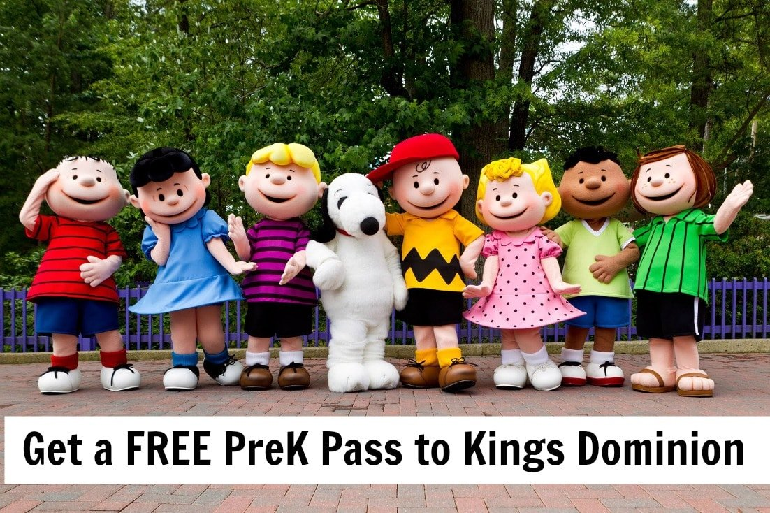 Planet Snoopy at Kings Dominion - Free Pre-K Pass for Kids 3-5