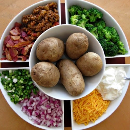 Baked Potato Bar with toppings