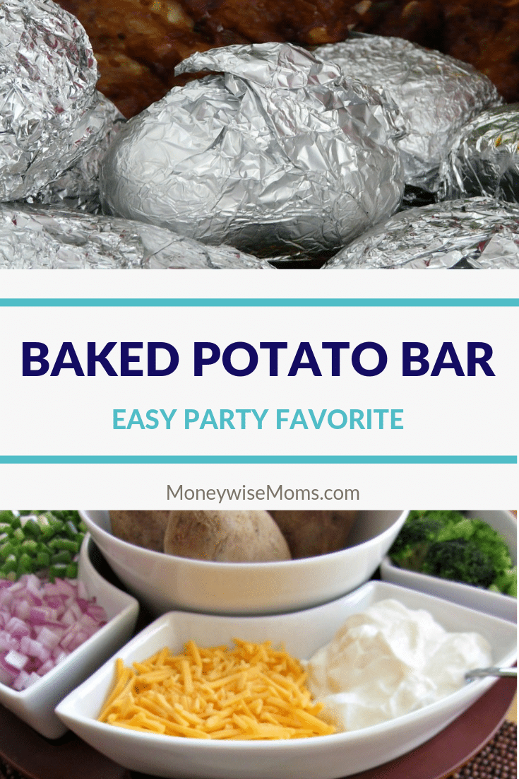 Great potluck idea - baked potato bar and toppings