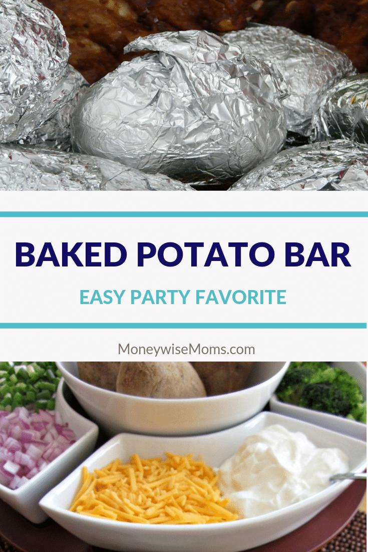 Great potluck idea - baked potato bar and toppings