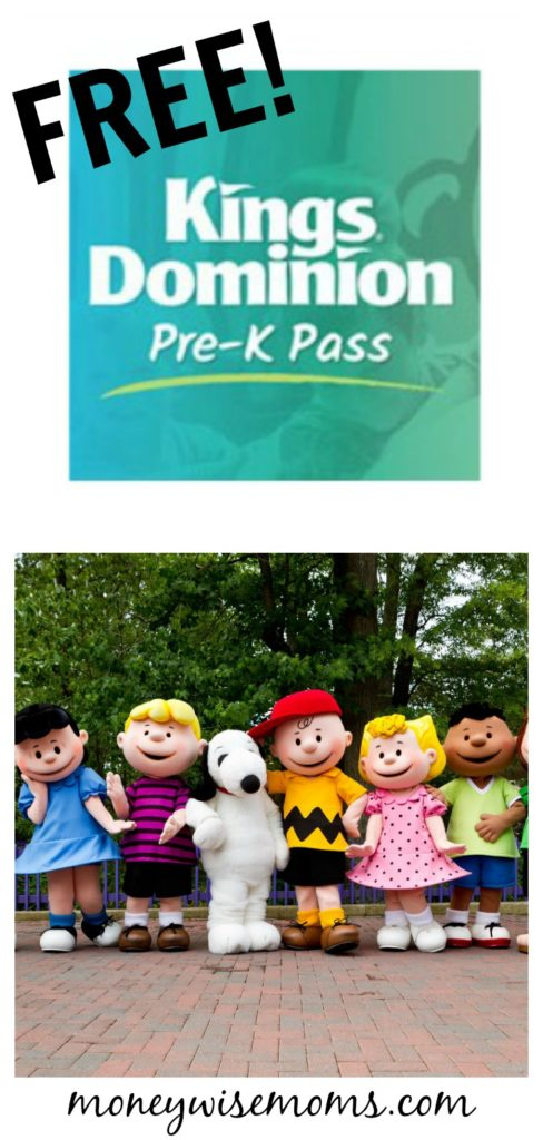 Free Pre K Pass to Kings Dominion