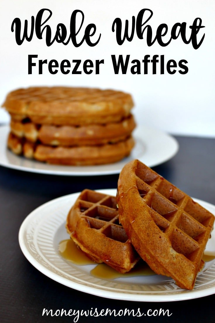 Whole Wheat Freezer Waffles - cook at home to save money and have a hearty breakfast on busy weekday mornings