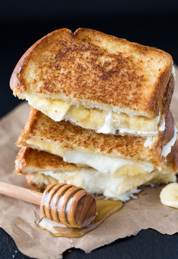 Honey Banana Grilled Cheese from Simply Stacie