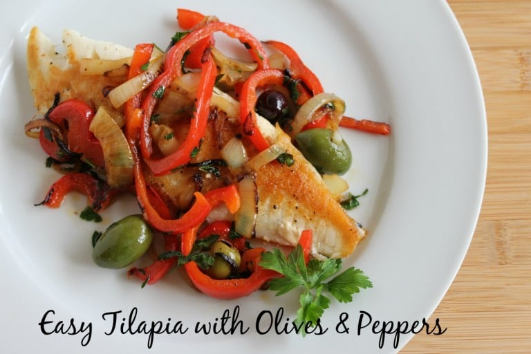 Easy Tilapia with Olives and Peppers | Tilapia Recipes for Kids