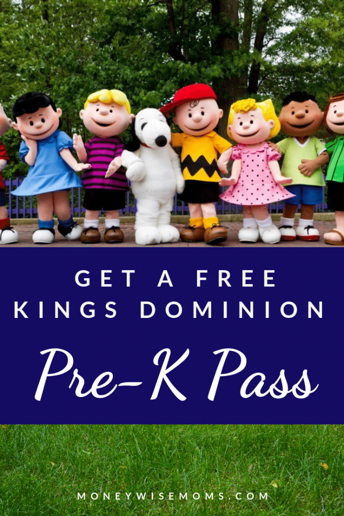 kings dominion pre k pass